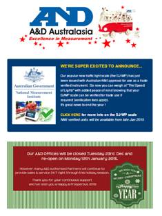 A&D Weighing Newsletter December 2014